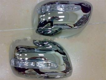 Накладки на зеркала хромированные LX570 с диодным повторителем поворота