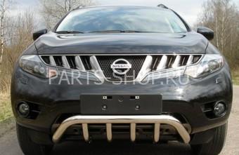 Защита передняя с перемычками Nissan Murano 2008-