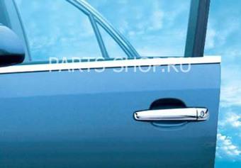 Молдинги на стекла дверей Corolla хром (комплект 4 части, нерж.)