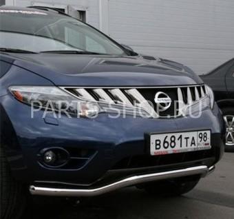 Защита передняя одинарная для Nissan Murano 2008-