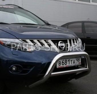 Защита передняя низкая для Nissan Murano 2008-