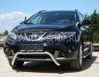 Защита переднего бампера Nissan Murano 2010-