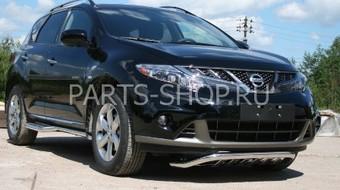 Защита передняя с защитой двигателя Nissan Murano 2010-