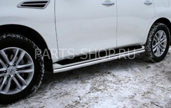 Защита порога Nissan Patrol (60 мм.)