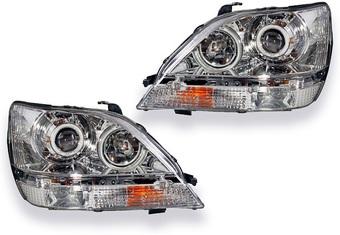 Оптика передняя линзовая хром с ангельскими глазками Harrier (к-т)