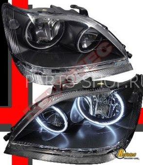 Оптика передняя темная с ангельскими глазками RX300