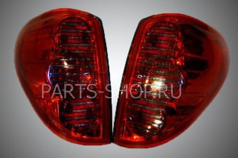 Фонари задние светодиодные тонированные l200