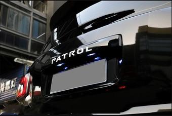 Накладка багажника patrol с подсветкой, черная