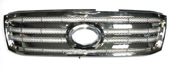 Решетка радиатора lc100 02-05 хромированная с сеткой