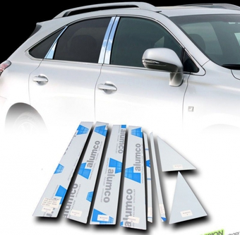 Накладки на стойки дверей хром Lexus RX270-450h 09- (8 частей)