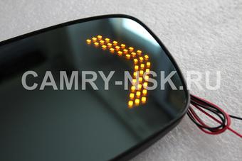 Зеркальный элемент для camry acv40/45 с подогревом и со встроенным индикатором поворота
