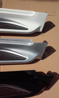 Подножки, пороги боковые lc200 дизайн 2016 (с подсветкой и без)