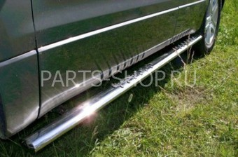 Пороги овальные (75х42мм. из нержавеющей стали)