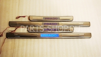 Внутрисалонные пороги с неоновой подсветкой из нержавеющей стали LC120 (комплект 4шт.)