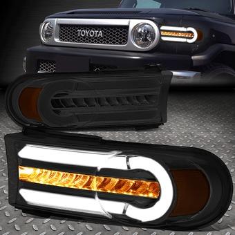 Поворотники FJ Cruiser диодные дымчатые с ходовыми огнями