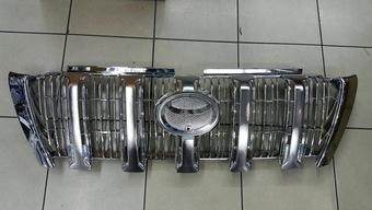 Решетка радиатора хром на prado 2014-