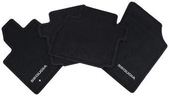 Коврики салона текстильные для Sequoia с логотипом, черные