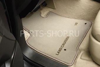 Коврики салона текстильные LC200 7-ми местный (цвета: серый,беж.)