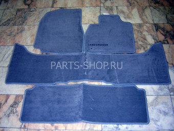 Коврики салона LC100 серые (на 3 ряда сплошной зад)