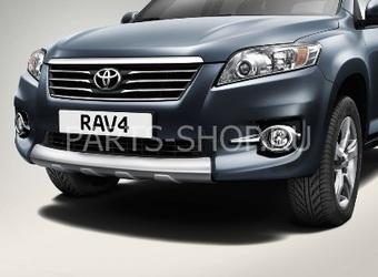 Защита нижней части бампера RAV4 (серебристая)
