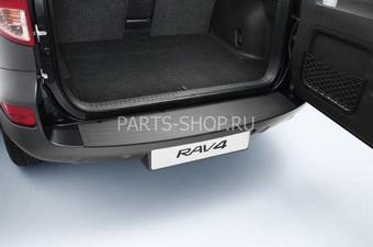 """Накладка на задний бампер с лого """"RAV4"""" (пластик)"""