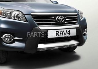 Накладка на передний бампер RAV4 пластиковая