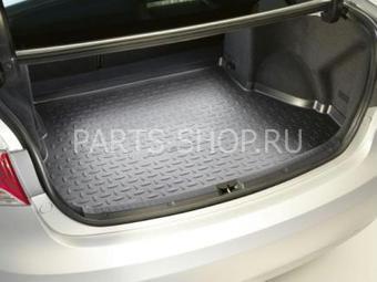 Коврик багажника резиновый для седана