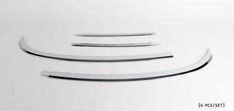 Хром накладки на заднее стекло Hyundai Santa FEa (4 части)