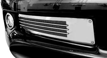 Решетка в передний бампер, с горизонтальным прутком и сеткой GX460