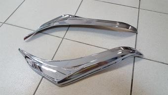 Реснички на фары хромированные LC150