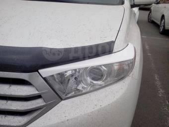 Реснички на фары Toyota Highlander 2010-2013