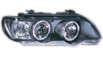 Фары черные BMW E53 линзовые с ангельскими глазками 00-04