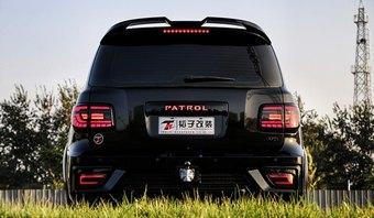 Спойлер верхний patrol, qx56 стиль Modellista
