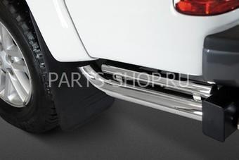 Боковая защита кузова двойная Hilux 2012-