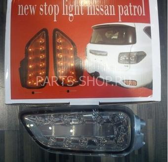 Задние противотуманные фонари диодные тонированные Patrol 2010-