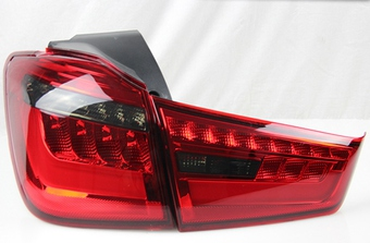 Фонари задние для Mitsubishi ASX стиль BMW (красные или дымчатые)