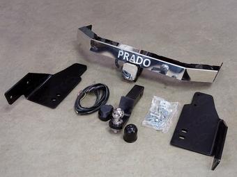 Фаркоп с логотипом для prado 150 (2 варианта)