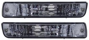 Повторители поворотов на LC80 в бампер, тонированные