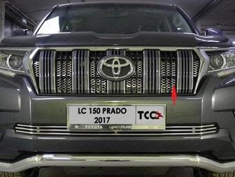Вставки внутренние в решетку радиатора prado 2018+ (черные)