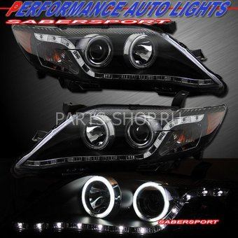 Оптика передняя линзовая Camry40 2010- с DRL