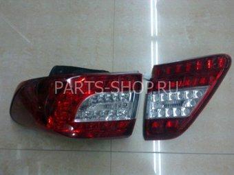 Фонари задние Corolla 2009- диодные-прозрачные (комплект)