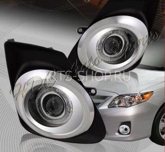 """Фары противотуманные линзовые с """"ангельскими глазками"""" Corolla 10- (комплект). Подробнее..."""