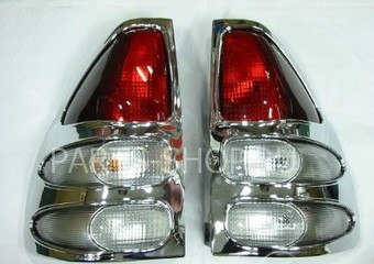 Накладки на задние фонари LC120, хром