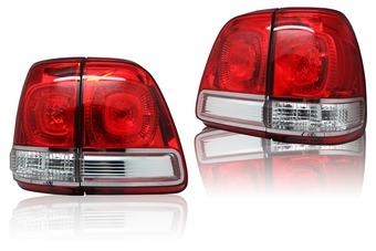 Оптика задняя диодная красно-белая для LC100 стиль LC200