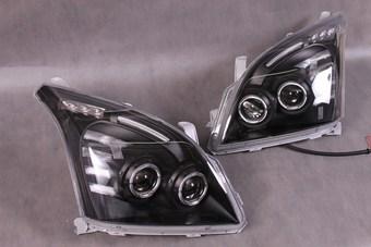 Фары передние с двумя линзами с ангельскими глазками, светодиодной подсветкой LC120 (комплект)