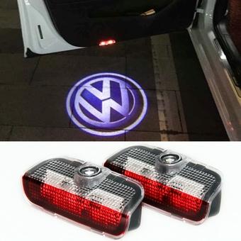 Volkswagen подсветка дверей в штатное место с логотипом
