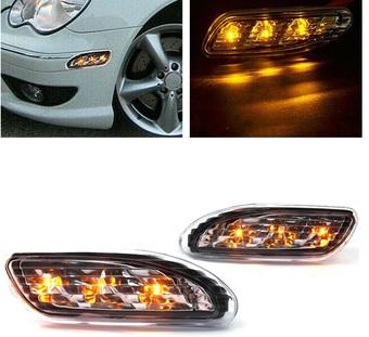 Повторители поворотов LED в бампер W203 (светлые или тёмные)
