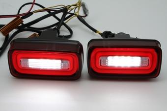 Стопы дополнительные диодные W463 в задний бампер, красные