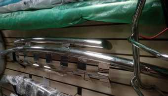 Защита переднего бампера двойная prado 95