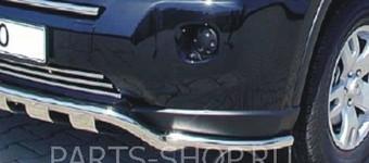 Защита переднего бампера угловая комплект